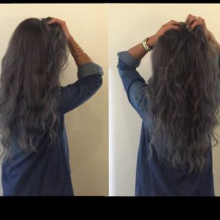 グラデーションカラー 暗髪 ロング 外国人風 ヘアスタイルや髪型の写真・画像