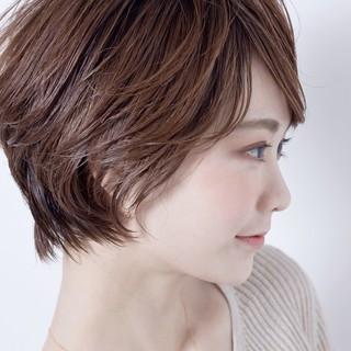 デート ショート パーマ 簡単ヘアアレンジ ヘアスタイルや髪型の写真・画像