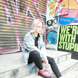 グラデーションカラー ストリート 外国人風 春 ヘアスタイルや髪型の写真・画像