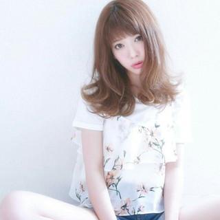 涼しげ 夏 ゆるふわ 内巻き ヘアスタイルや髪型の写真・画像