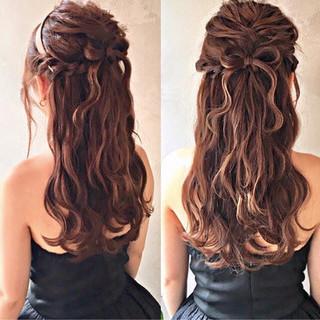 ヘアアレンジ エレガント 編み込み ロング ヘアスタイルや髪型の写真・画像 ヘアスタイルや髪型の写真・画像
