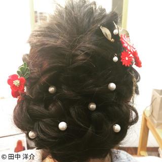 ヘアアレンジ 編み込み ゆるふわ まとめ髪 ヘアスタイルや髪型の写真・画像