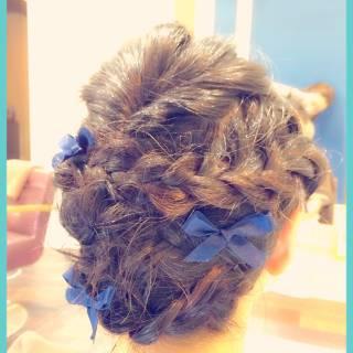 フェミニン ヘアアレンジ 大人かわいい ミディアム ヘアスタイルや髪型の写真・画像