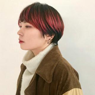 赤髪 ローライト ストリート ショート ヘアスタイルや髪型の写真・画像 ヘアスタイルや髪型の写真・画像