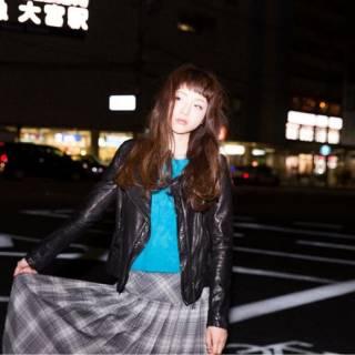 ガーリー フェミニン オン眉 ストリート ヘアスタイルや髪型の写真・画像