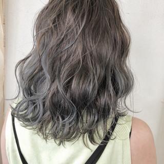 外国人風カラー ナチュラル フェミニン ミディアム ヘアスタイルや髪型の写真・画像