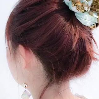 ナチュラル セミロング 簡単ヘアアレンジ 簡単 ヘアスタイルや髪型の写真・画像