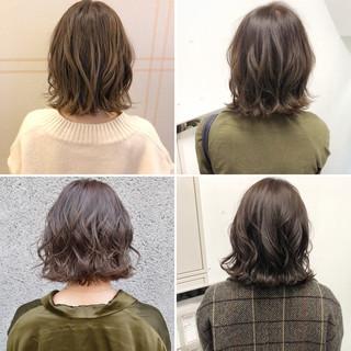 デート ナチュラル アンニュイほつれヘア ボブ ヘアスタイルや髪型の写真・画像