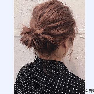 ヘアアレンジ ショート お団子 伸ばしかけ ヘアスタイルや髪型の写真・画像 ヘアスタイルや髪型の写真・画像