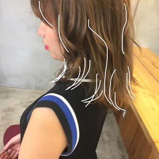 セミロング 簡単ヘアアレンジ スポーツ ストリート ヘアスタイルや髪型の写真・画像