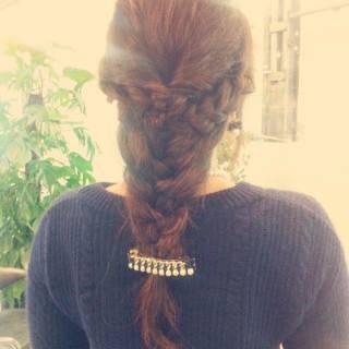ヘアアレンジ モテ髪 編み込み コンサバ ヘアスタイルや髪型の写真・画像