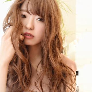 フェミニン ゆるふわ ハイライト パーマ ヘアスタイルや髪型の写真・画像 ヘアスタイルや髪型の写真・画像