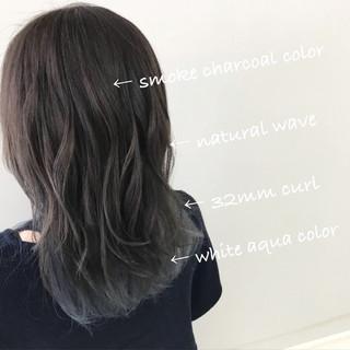 ミディアム ヘアアレンジ ナチュラル ロブ ヘアスタイルや髪型の写真・画像