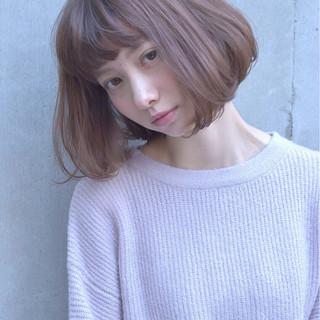 ニュアンス フェミニン ミルクティー 春 ヘアスタイルや髪型の写真・画像