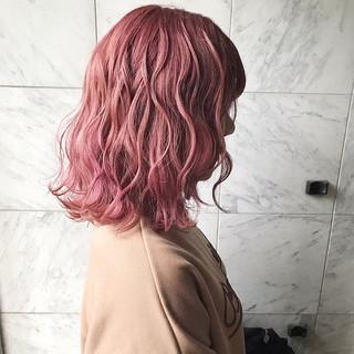 ガーリー 韓国ヘア 透明感カラー セミロング ヘアスタイルや髪型の写真・画像 ヘアスタイルや髪型の写真・画像