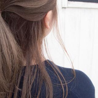 ヘアアレンジ ポニーテールアレンジ 簡単ヘアアレンジ ロング ヘアスタイルや髪型の写真・画像