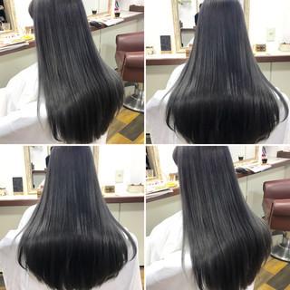ロング グレー シルバー ストリート ヘアスタイルや髪型の写真・画像