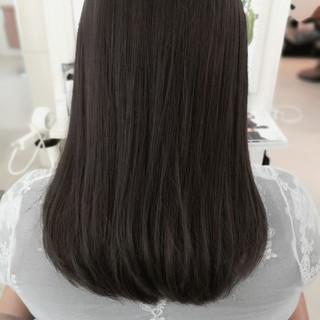 ハイライト セミロング アッシュグレージュ モード ヘアスタイルや髪型の写真・画像