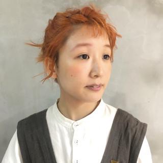 簡単ヘアアレンジ ミニボブ ショート ナチュラル ヘアスタイルや髪型の写真・画像