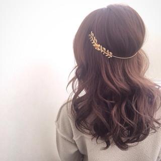 モテ髪 愛され ヘアアクセ カチューシャ ヘアスタイルや髪型の写真・画像