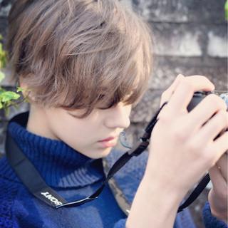 ショート ボブ ナチュラル アッシュ ヘアスタイルや髪型の写真・画像 ヘアスタイルや髪型の写真・画像