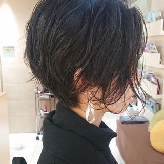 ショート クール モード 黒髪 ヘアスタイルや髪型の写真・画像