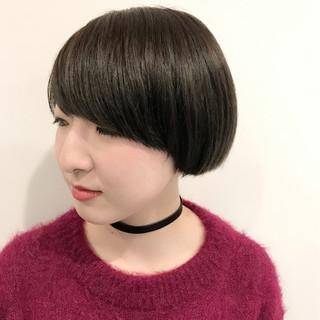 モード ブルー ネイビー ショートボブ ヘアスタイルや髪型の写真・画像 ヘアスタイルや髪型の写真・画像