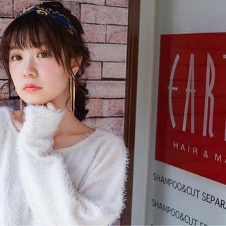 ショート おフェロ 暗髪 ミディアム ヘアスタイルや髪型の写真・画像