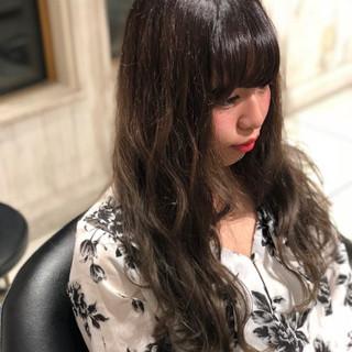 ダブルカラー グラデーションカラー ストリート グレー ヘアスタイルや髪型の写真・画像