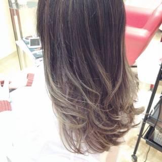 モード 秋 ロング ストリート ヘアスタイルや髪型の写真・画像