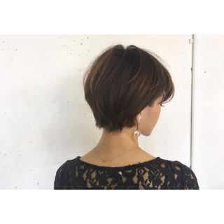 ハンサム リラックス ショート かっこいい ヘアスタイルや髪型の写真・画像