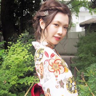 ショート 夏 花火大会 ヘアアレンジ ヘアスタイルや髪型の写真・画像