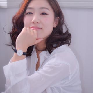 ゆるふわ 大人かわいい ブラウン フェミニン ヘアスタイルや髪型の写真・画像