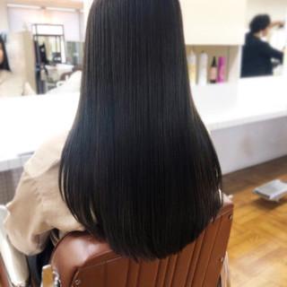 縮毛矯正ストカール トリートメント 黒髪 縮毛矯正 ヘアスタイルや髪型の写真・画像