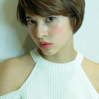 色気 大人女子 小顔 ショートボブ ヘアスタイルや髪型の写真・画像