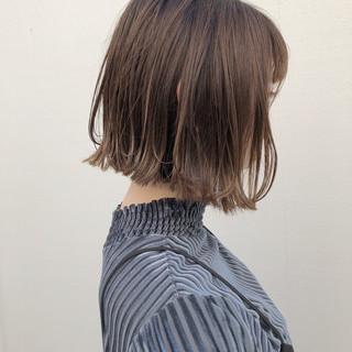 切りっぱなし ボブ ナチュラル 外国人風カラー ヘアスタイルや髪型の写真・画像