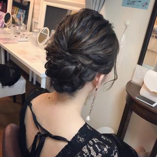 ミディアム 結婚式 ヘアアレンジ 女子会 ヘアスタイルや髪型の写真・画像 ヘアスタイルや髪型の写真・画像