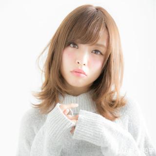 ひし形シルエット モテ髪 大人かわいい 外ハネ ヘアスタイルや髪型の写真・画像
