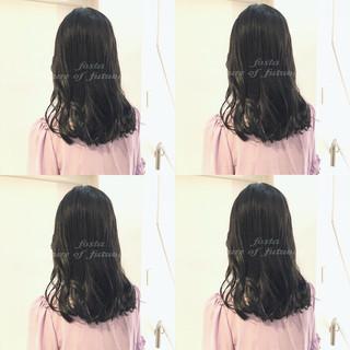 透明感 渋谷系 セミロング オルチャン ヘアスタイルや髪型の写真・画像