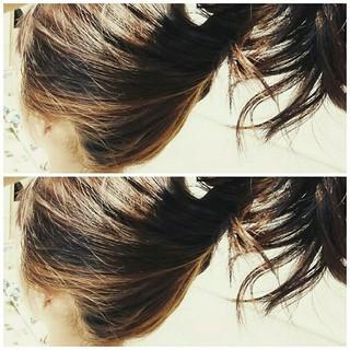 富士由華さんのヘアスナップ