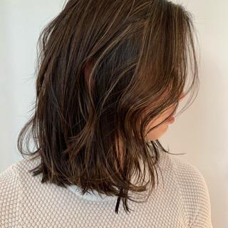 ハイライト 地毛ハイライト ナチュラル 3Dハイライト ヘアスタイルや髪型の写真・画像