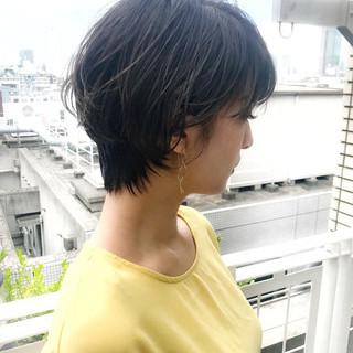 ナチュラル 涼しげ ショート 簡単 ヘアスタイルや髪型の写真・画像