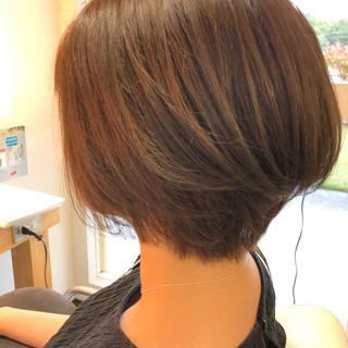 グレージュ ショートボブ ショート ショートヘア ヘアスタイルや髪型の写真・画像