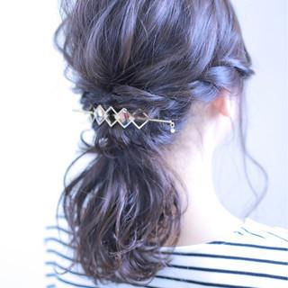 結婚式 女子会 ナチュラル ヘアアレンジ ヘアスタイルや髪型の写真・画像