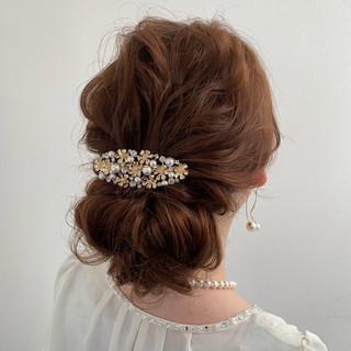 アンニュイほつれヘア ロング フェミニン 簡単ヘアアレンジ ヘアスタイルや髪型の写真・画像
