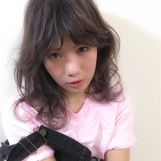 グラデーションカラー ゆるふわ 外国人風 ガーリー ヘアスタイルや髪型の写真・画像