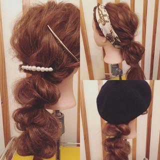 大人かわいい ロング ナチュラル ヘアアレンジ ヘアスタイルや髪型の写真・画像