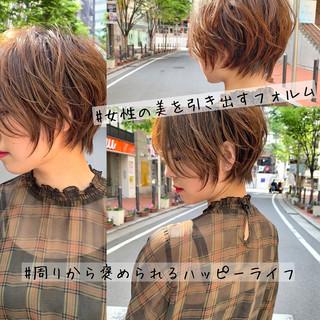 ハンサムショート ショート ショートボブ 大人ショート ヘアスタイルや髪型の写真・画像