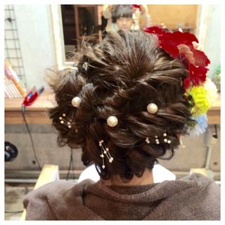 パールアクセ ヘアピン ロング ヘアアレンジ ヘアスタイルや髪型の写真・画像 ヘアスタイルや髪型の写真・画像