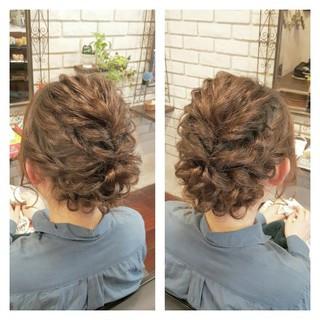 大人かわいい セミロング ナチュラル ハーフアップ ヘアスタイルや髪型の写真・画像